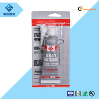 High temperature resistance Grey RTV silicone rubber adhesive gasket maker