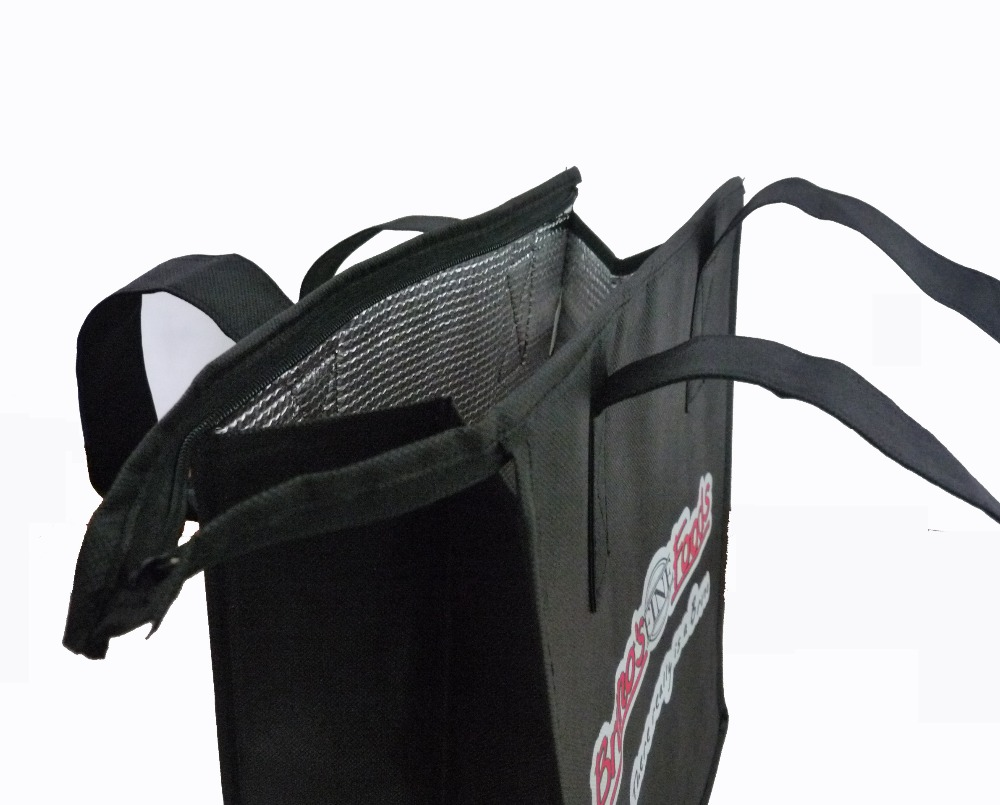 china factory wholesale black insulated non woven cooler bag for food