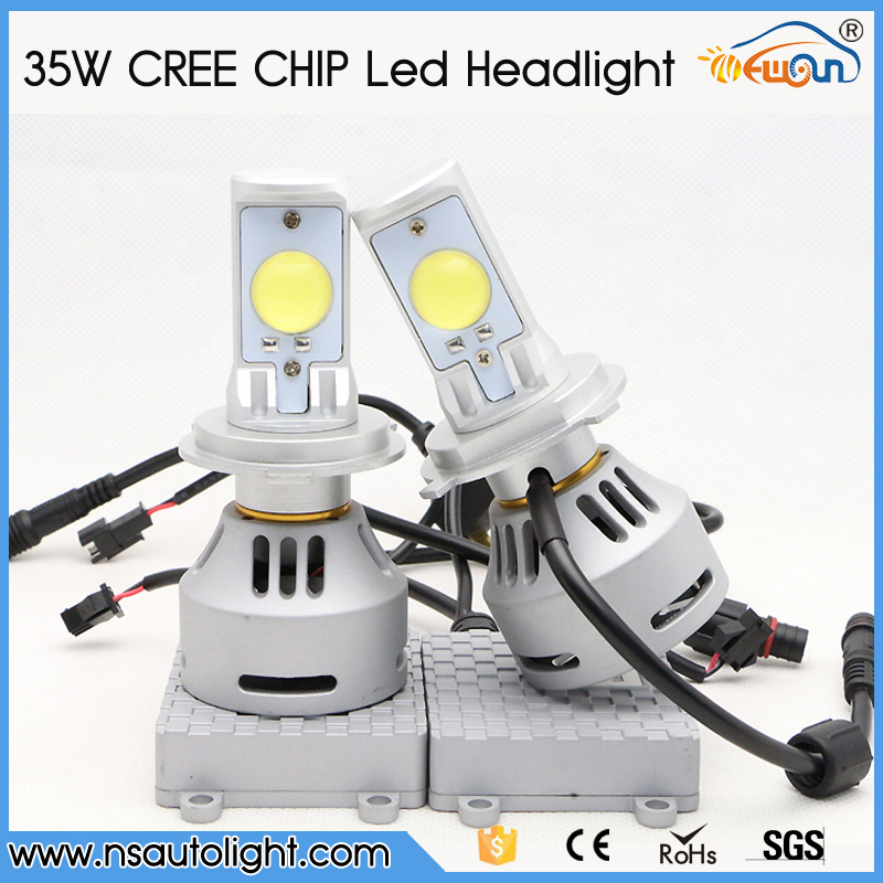 2015 NEW Car bulb C REE 9004 9007 H13 35W Hi Low beam 12v H4 car led headlight. led driving light