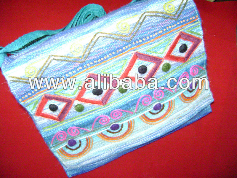 Peruvian handmade embroidery tote bag - ETHNIC DESIGNS