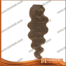 Factory price remy clip in 24 inch clip in human hair extensions bangs plastic bun hair clip