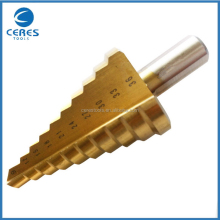 The newest economic hss tin coated step drill bits detail