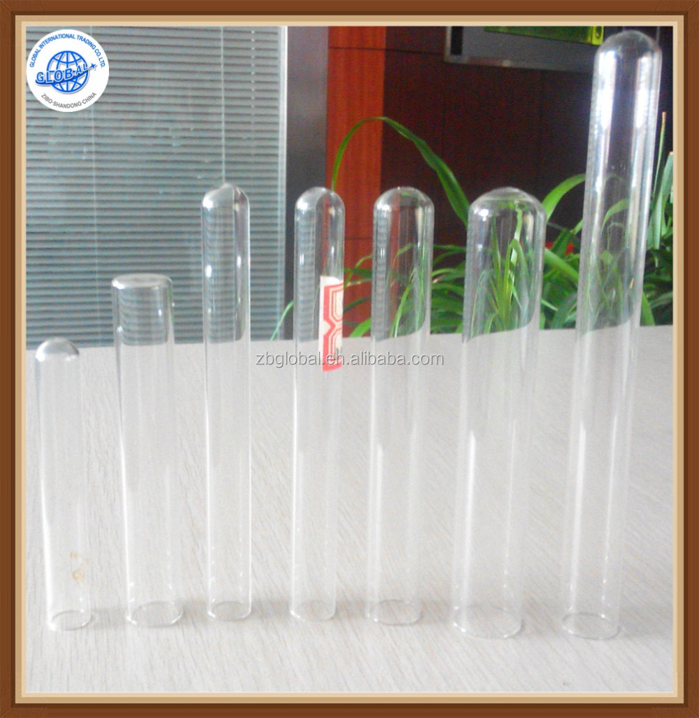 High quality customized cylinder clear empty glass test tube with cork for herb/lab ware
