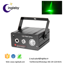 nightclub equipment four colors dould lens laser text projector light
