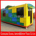 Outdoor mobile and convenient operation transformed container shop