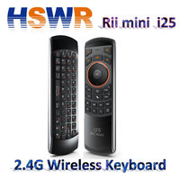 Rii i25 Multifunction Portable 2.4GHz Mini Wireless Fly Mouse Keyboard and Infrared Remote Control with Rechargeable lituim