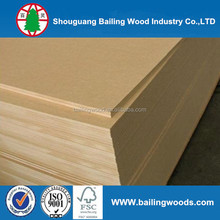 Good quality 3 MM MDF backboard melamine MDF, plain MDF