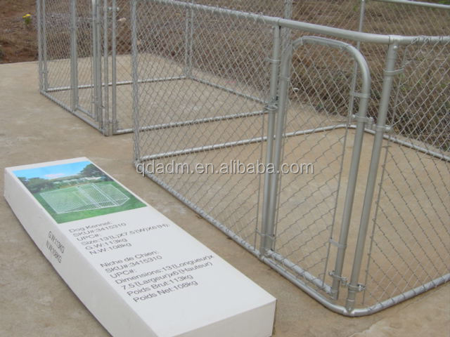 Heavy duty steel hot dip galvanized chain link dog cage