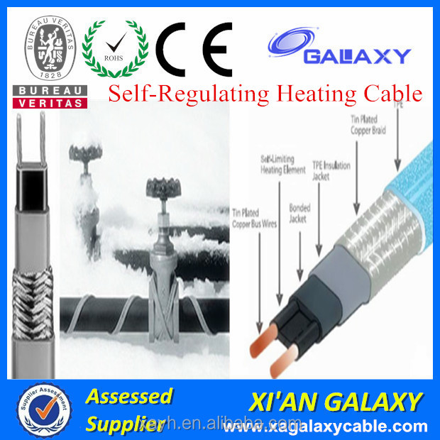 12V Heated Tracing Cable Self Regulating Heating Pipe Industrial 24V Heating Cable