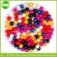Various Color And Size Acrylic Beads 30mm Round Beads For Chunky Jewelry Decoration