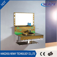 High quality wall mounted glass bathroom sink