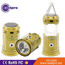 Emergency camp cheap portable solar powered rechargeable led camping lantern tent lights lamp with mobile phone charger