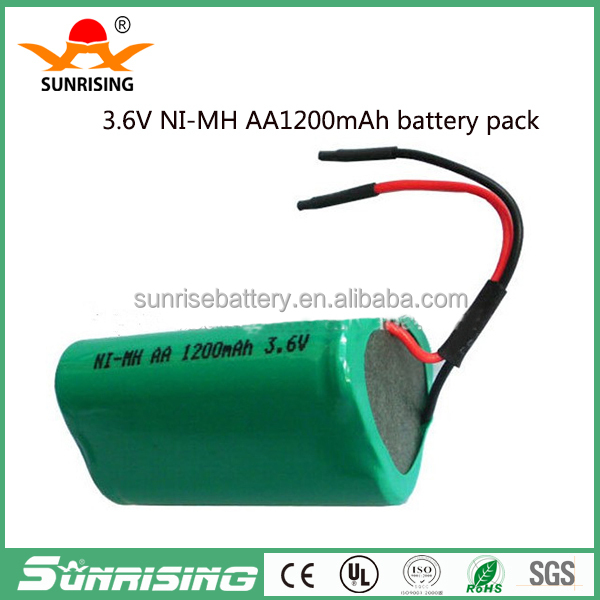 Sunrising 3.6v triangle ni-mh rechargeable battery pack for electric tools