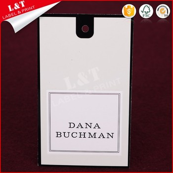 Customized Recycled Coated Paper Clothing Hang Tags With String