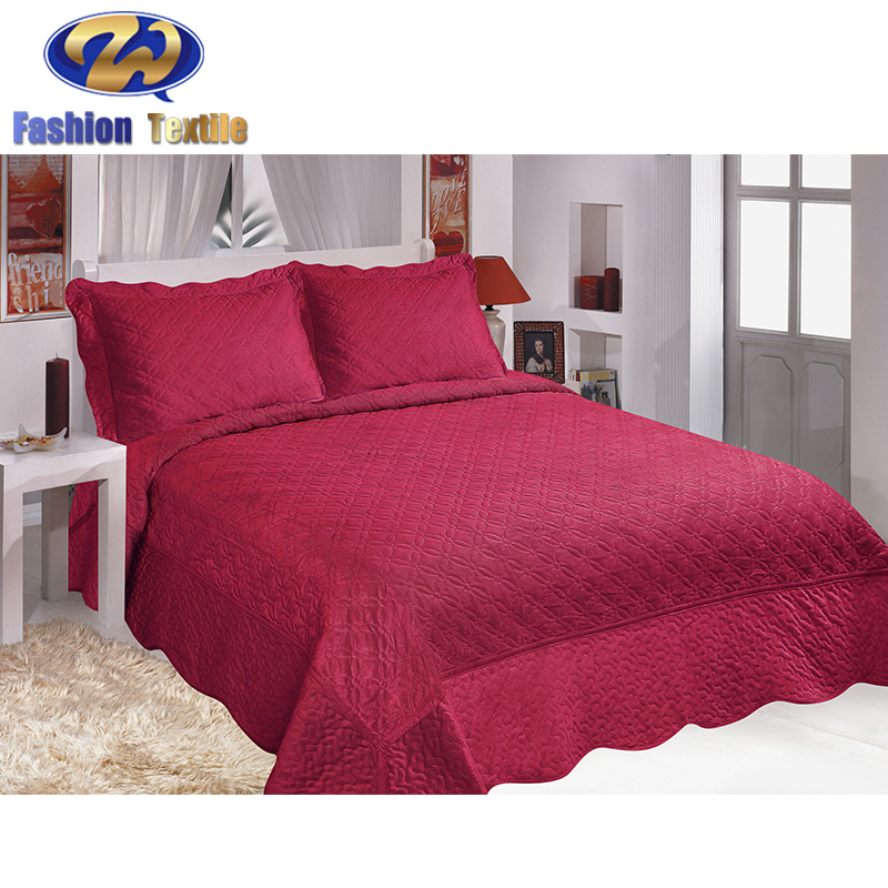 Wholesale solid color twin bed quilt