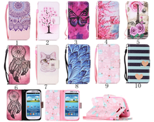 Painted Flip Case Wallet Leather Cover for Samsung Galaxy S3 i9300 Colored Drawing flip case