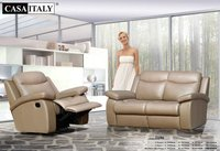 Casa Italy Leather Sofa F 3196 Recliner, Rocking