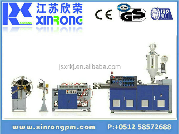 china high quality plastic threading pipe making machine
