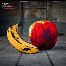 Digital full printing artistic huge inflatable apple / inflatable banana replica model for decoration