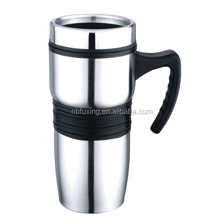 Travel mug with PP handle
