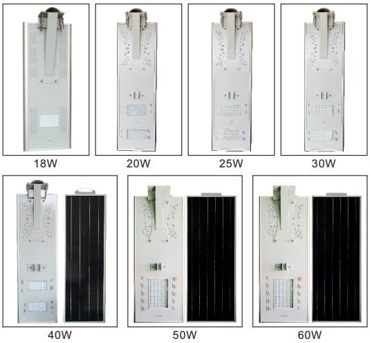 Shenzhen 18V 18W integrated solar panel 8W 12v led street light