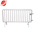 Portable metal crowd control pedestrian barrier