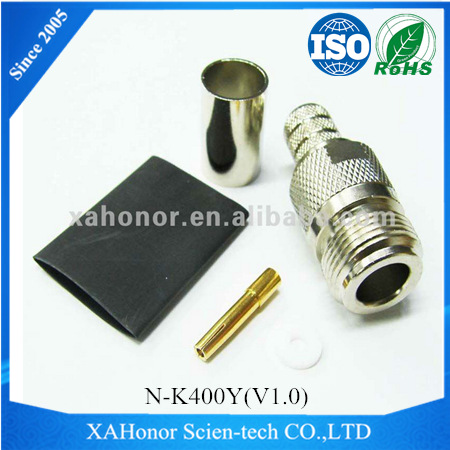 N type female rf connector for LMR400