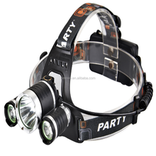 3 pcs XML-T6 rechargeable led headlamp 3 T6 and R2 LED Head Lamp