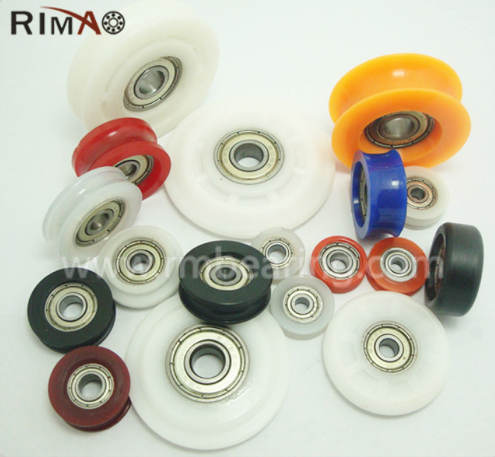 rubber roller skate wheel suitcase caster wheels chinese carbon sliding gate pulley