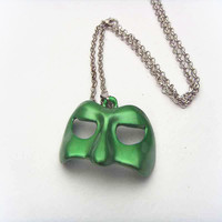 2016 New Movie Jewelry Super Hero Green Lantern Mask Pendant Necklace KN-18