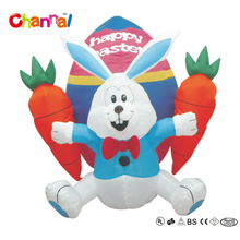 2017 Popular inflatable easter bunny toy decorations with carrot