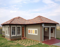 Africa hot sale low cost prefabricated steel frame kit home villas