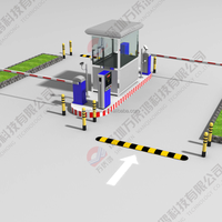 Hot selling Intelligent TCP/IP car parking system, with smart card/barcode ticket dispenser and reader , parking barrier