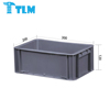 Custom Made High Quality Food Grade Storage PP Black EURO STACKING CONTAINER for Logistics