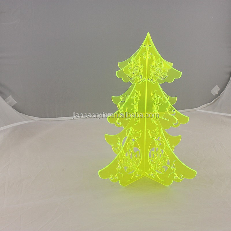 fluorescent colored acrylic christmas tree