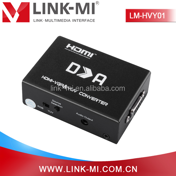 LINK-MI OEM LM-HVY01 High Quality Digital/Analog HDMI to RGB&YPbPr Converter Support <strong>1080p</strong>