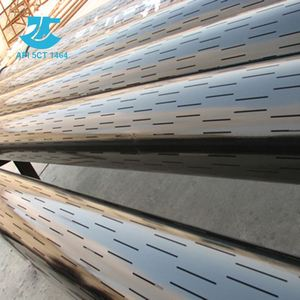 Rectangular Slotted Liners Pipe, Steel Slotted Square Tube