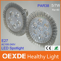2016 hot 5W led bulb Led Spotlight par30 e27 ac85-265v PAR spotlights led Bulb indoor