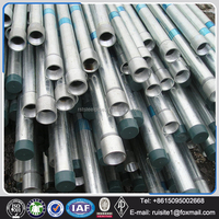 Chilled Water Galvanized Steel Pipe bs1387 / galvanized steel pipe properties