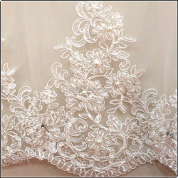 Factory directly manufactured handwork Embroidery Bridal Beaded lace