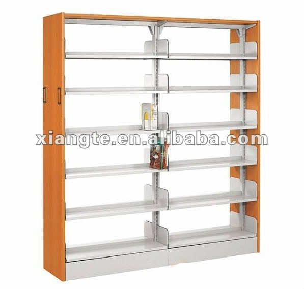 2012 hot sale wooden design library bookcase/wood bookrack/modern bookcase