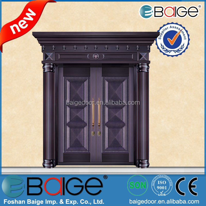 BG-C9102 Swing Open Style and Exterior Position copper double art armoured door