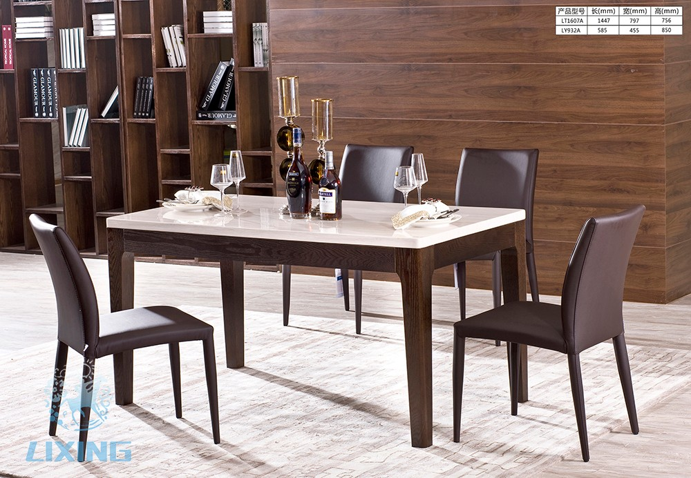 table salle a manger en marbre ensemble repas table salle manger cm chaises cuir sandra with. Black Bedroom Furniture Sets. Home Design Ideas