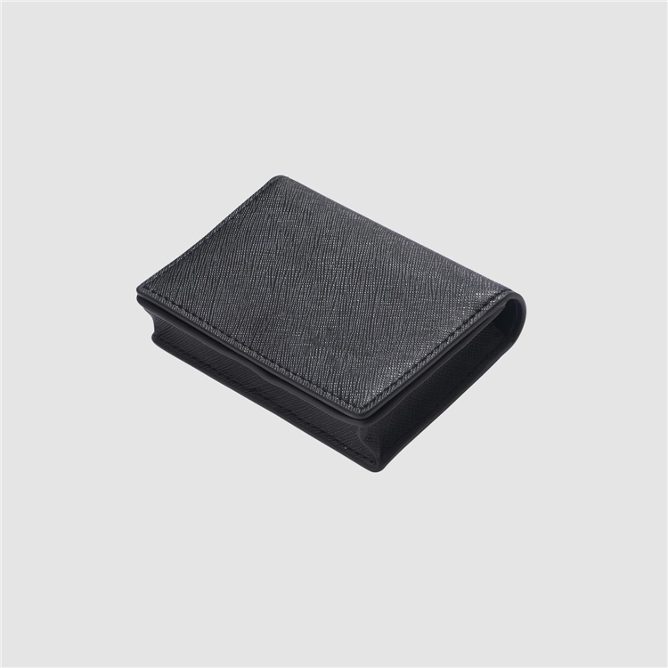 Wholesale slim leather office swipe card business Card Case