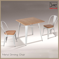 Wholesale price metal table and chair used for dining room furniture