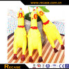 Shrilling scream squeeze plastic chicken toys