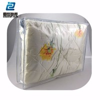 PVC plastic factory made low price handle zipper comforter bag