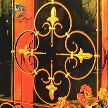 Decorative wrought farm iron fences arches window bars