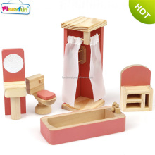 2018 Hot Popular Children Wooden Toys Doll House Mini Mini Furniture for Doll House for Salee AT12108