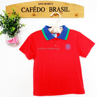 red plain baby boy polo tshirts with cemtrel button collar